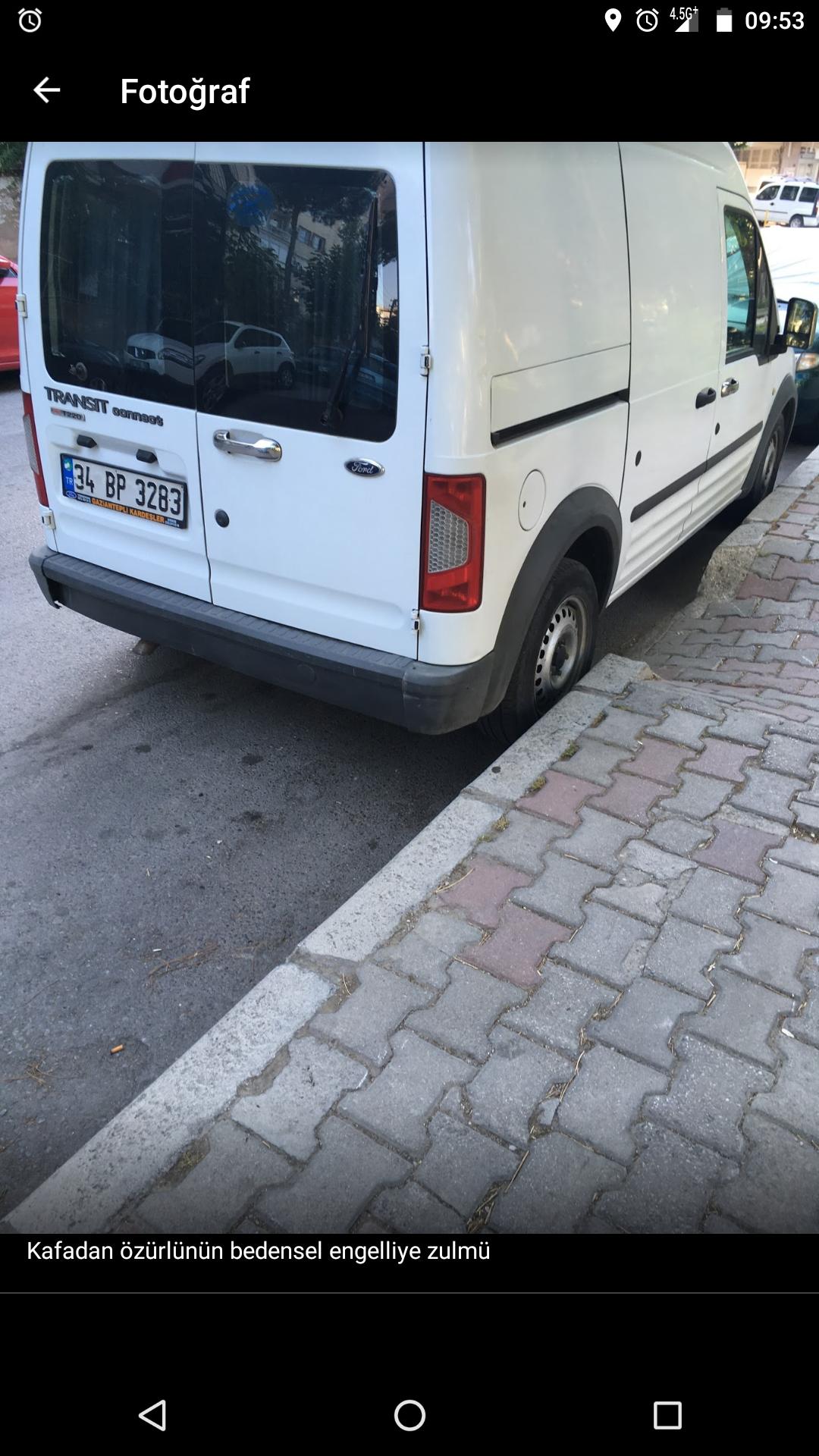 araçların park yapmasını engelleyecek eklemeler yapılmalı